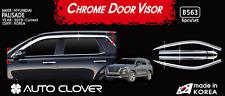 Chrome Window Vent Visors RainGuard Sun Silver 6P B563 for Hyundai Palisade 2019