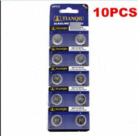 Wholesale 10x AG13 LR44 SR44 L1154 357 A76 Alkaline batteries button cells watch