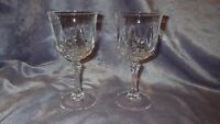 Crystal Wine Glasses Auteuil Clear by Cristal D'Arques-Durand 2 6 ounce stems