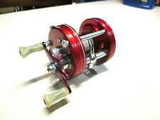 ABU GARCIA AMBASSADEUR FISHING REEL - RED 5000, EARLY # -  CLEAN & WORKS GOOD