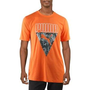 Puma Mens Orange Fitness Graphic Running T-Shirt L  5437