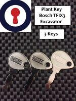 Fork lift truck keys x 3 TFi4X Bosch excavator Lucas tractor lawnmower 1st P&P