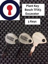 Plant key x3 Bosch excavator Lucas tractor lawnmower 1st P&P