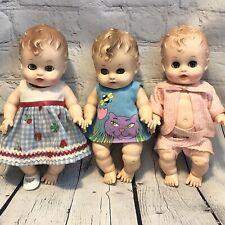 "Vtg Lot Sunbabe So-Wee 10"" Baby Dolls N York Ruth E. Newton Sun Rubber Co. 1957"