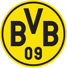 STICKER BVB BORUSSIA DORTMUND SOCCER ROUND 3,7in GERMANY FOOTBALL FUSSBALL CAR !