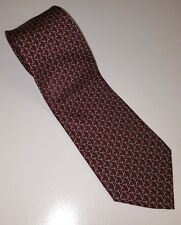 "BROOKS BROTHERS - BURGUNDY, SILVER, GOLD CHAIN LINK MESH CLASSIC TIE, 3.5"" WIDE"