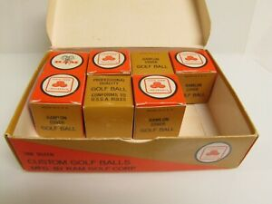 Vintage RAM STATE FARM INSURANCE GOLF BALL Boxed Set with 7 Golf Balls
