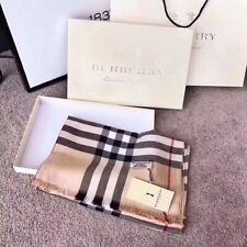 AUTHENTIC BURBERRY SCARF LARGE 100% CASHMERE BLACK WHITE RED 2020 WINTER