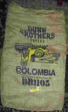 "Large COLUMBIA Coffee Bean Burlap Bag Sack, Wall Art, 30"" X 17"""