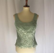 Jessica Howard Women's sz 10 Formal Evenings tank top Vest  lace embroidery