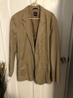 Gap XXL Khaki brown button lined suit jacket sport coat blazer