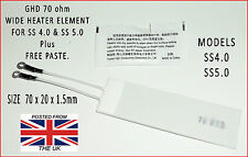 BRAND NEW - WIDE SS4.0 & SS5.0 GHD 70 OHM HEATER ELEMENT & FREE PASTE.