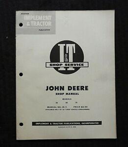 "1953 JOHN DEERE ""50 60 70"" 2-CYLINDER TRACTOR I & T SERVICE SHOP REPAIR MANUAL"