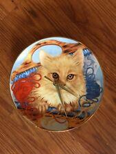 Cuddly Kitty Cat 8 1/2 Inch Clock -