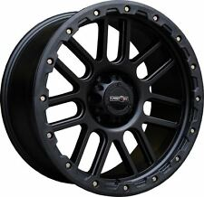 "17"" Vision 111 Nemesis Black Truck Wheel 17x9 6x5.5 -12mm Chevy GMC Tahoe 6 Lug"