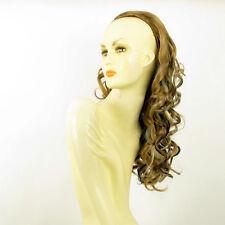 Demi-tête, demi-perruque 58cm  blond clair cuivré clair et chocolat 016 15613h4