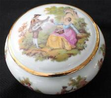 Vintage GLORIA BAYREUTH W. Germany FRAGONARD LOVE STORY Pattern Trinket Box&Lid