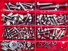 SCATOLA ASSORTIMENTO 265 pezzi Vite acciaio inox Box Set BICICLETTA DIN 933