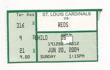 Ken Griffey Jr 500 home run ticket stub 6/20/2004