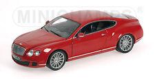 Minichamps 2008 BENTLEY CONTINENTAL GT- RED METALLIC 1:18*Back In Stock! Nice!!