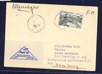 50908) LH FF Hamburg - Dhahran Arab 4.8.60, Karte ab Frankreich Poste Mil.