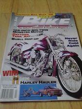 Hot Bike Magazine   July 1996  Buell, 1947 H-D Knucklehead/Daytona Tank Art