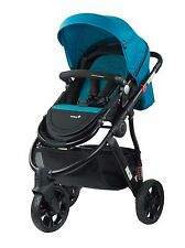 NEW SAFETY 1ST WANDERER 3 WHEEL STROLLER PRAM BLUE  gift present newborn baby
