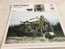 Fiche moto collection Atlas motorcycle Harley Davidson 350 BA Peashooter 1929