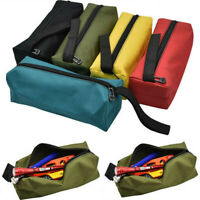 Small Zipper Tool Bag Pouch Organize Storage Parts Hand Tool Electrician Plumber