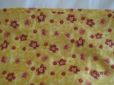 COTTON FABRIC 1 YD BY RO GREGG PAISLEY PANACHE PRETTY GOLDS/YELLOW