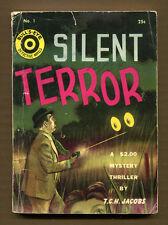 SILENT TERROR by T.C.H. Jacobs - 1941 Bull's-Eye Detective Novel #1 - Good+ PB