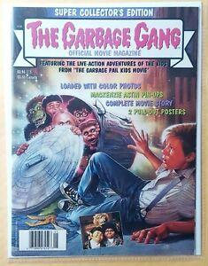 1987 GPK GARBAGE GANG OFFICIAL MOVIE MAGAZINE (w/POSTER inside) VINTAGE RARE