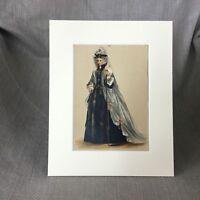 1890 Antico Moda Stampa Colore Litografia Vittoriano Decorato Abito Costume