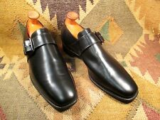Alan McAfee Monk Strap Black Leather Loafers size 10.5 D Made in ENGLAND