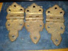 Antique Icebox Hinges Brass Ornate