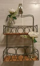 Vintage boho Wicker Small Hung up Shelves