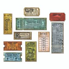 Tim Holtz Ticket Booth die Set 662698 - Ticket Booth Rubber Stamps CMS337