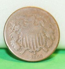 1866 US 2 Cent Piece Good +
