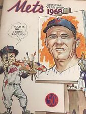 2 1968 New York Mets yearbooks 1 of them early edition 1 revised edition
