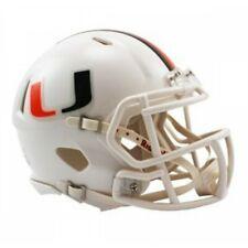 NCAA Miami Hurricanes Riddell VSR4 College White Mini Football Helmet