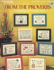 From the Proverbs Leisure Arts Leaflet 434 9 Designs for Counted Cross Stitch
