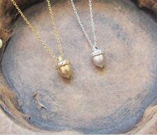 Gold Acorn Necklace,  Acorn Charm, Acorn Charm Necklace, Gold Charm Necklace