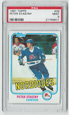 1981 Topps Peter Stastny #39 PSA 9 Mint Hockey Card