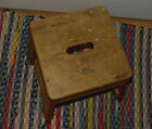 Vintage 1940's Bell System Telephone Wood/Wooden Lineman's Step Stool
