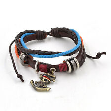One Piece Symbole Bracelet Luffy Skull Cuir Synthétique Wristband Bangle Anime