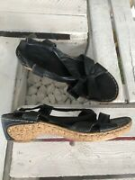 Signora Schwarz Braun Gr. 38 Schuhe Sandalen Riemchen Sandaletten Damen