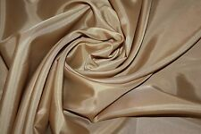 "100 Yard Bolt Bamboo Light Brown Polyester TAFFETA Solid Fabric Roll 60"" Carmel"