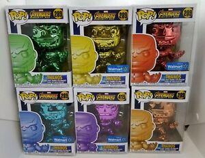 MINT~Funko Pop Marvel Chrome Thanos Walmart Exclusive Set 289 & 415