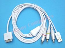 iPad iPhone iPod Composite AV Cable to TV/ Audio Video RCA With USB Power Supply