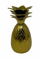 "4"" Brass Pineapple Trinket Holder Box Decor"
